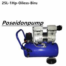 Ulasan Tentang Poseidon Air Compressor Oiless Silent Mesin Kompresor Bebas Oil 1Hp 25Liter Gulungan Original Tembaga Biru