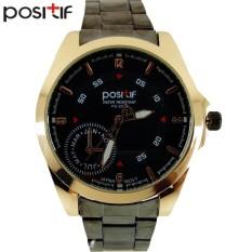 POSITIF Cordoba Hitam Emas - Jam Tangan Pria - Rantai Alloy - PS-2624 Cordoba Black Gold + Free Box Jam Tangan