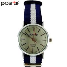 POSITIF Mini Cornella Putih Biru - Jam Tangan Wanita - Tali Kanvas - PS-096 Mini Cornella White Blue + Free Box Jam Tangan