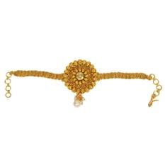 Pourni Emas Tradisional Antique Selesai Armlet Bajuband untuk Wanita-Internasional