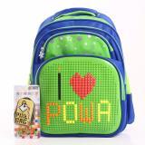 Spek Powa Pixel Bag 1668 Tas Ransel Anak Sekolah Green Dki Jakarta