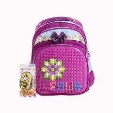 Harga Powa Pixel Bags 1628 Tas Ransel Sekolah Anak Purple Origin
