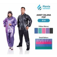 Premium Jas Hujan Jaket Celana Polkadot 810 Plevia Stelan Raincoat Toko Berkah Online
