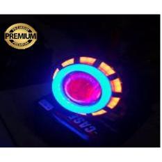Premium Lampu Utama Headlamp Led Cree Projie Double AE Model Bulat
