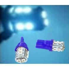 Premium- LED Lampu Motor T10  4  Pcs - Biru Toko Berkah Online