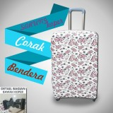 Beli Premium Sarung Pelindung Koper Luggage Cover Motif Protector Elastis Size S 18 Inc 20 Inc Ozora