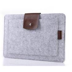 Review Toko Tas Laptop Softcase Premium Soft Wool Felt Sleeve Case Notebook Cover For 11 6 Macbook Pouch Grey