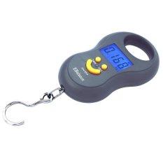 Premium Timbangan portable Gantung Digital Smile Bulat 40 kg - Abu