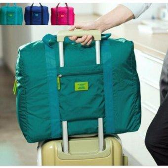 Penjualan Prime Foldable Travel Bag Tas Mudik Hand Carry Bag - Hijau Tosca terbaik murah - Hanya Rp27.568