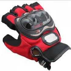 Pro Biker half gloves - Merah