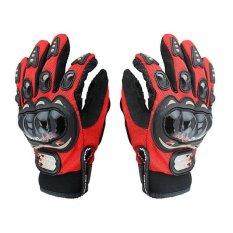 Spesifikasi Probiker Sarung Tangan Full Batok Merah Hitam Bagus