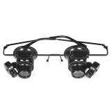 Jual Profesional 20X Double Eye Watch Repair Magnifier Loupe Dengan Lampu Led Perhiasan Kaca Pembesar Alat Perbaikan Internasional Not Specified Asli