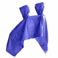 Prokita Jas Hujan Ponco 2 Kepala - Bahan Taslan Seperti Jashujan AXIO - Bukan Bahan Karet - Biru Tua