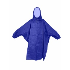 Prokita Jas Hujan Ponco Lengan - Bahan Taslan Seperti Jashujan AXIO - Bukan Bahan Karet - Biru Tua puzzisyukur