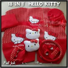 promo Bantal Jok Seat Belt Tempat Tisu Mobil Car Set HELLO KITTY MERAH (18) original