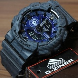 Jual Promo D Ziner Dz 3398 Sporty Jam Tangan Pria Original Anti Air Black Satu Set