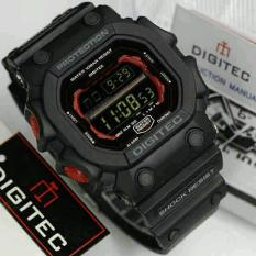Beli Promo Digitec Monster Dg 2012T Original Anti Air Jam Tangan Pria Sporty Casual Black Red Terbaru