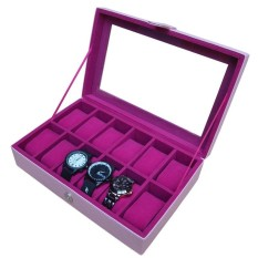 PROMO - Full Color Watch Box / Kotak Jam Tangan / Tempat Jam Isi 12