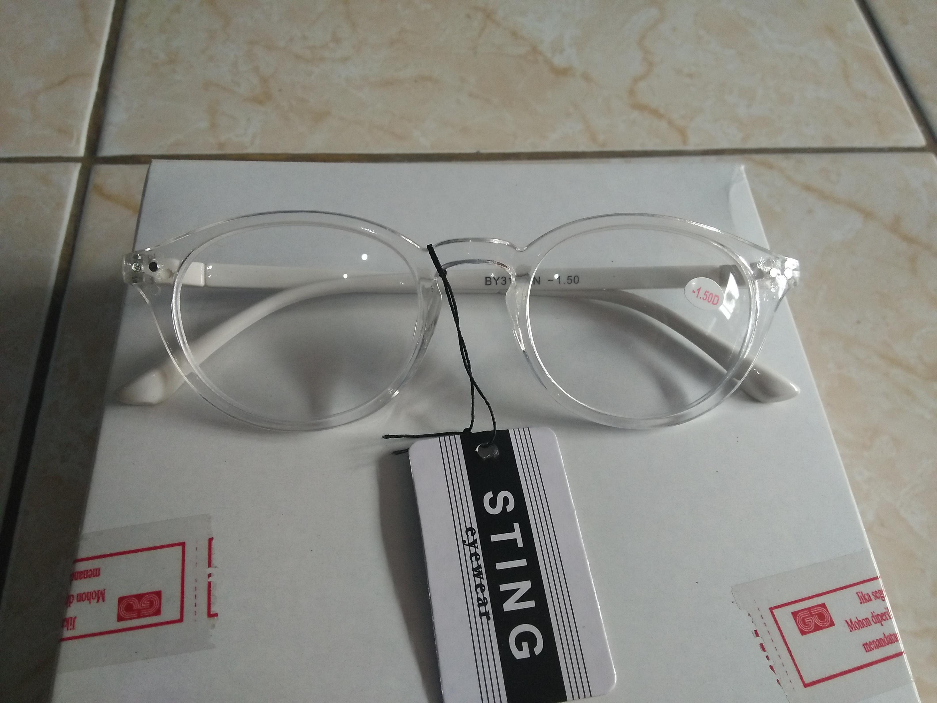 Promo kacamata baca kacamata minus 0.50 kacamata murah oval bening trendy  gaya korea ee335e743b