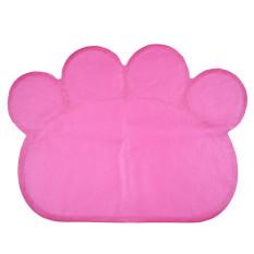 Promosi Fungsional Cute Pet Dog Paw Bentuk Tatakan Puppy Cat Makan Meja Pembersih Mats Dish Bowl Air Lap Bersih PVC Hotpink-Intl