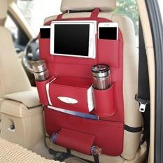 PU Kulit Car Seat Back Tempat Penyimpanan Multi-Pocket Travel Tas Penyimpanan untuk Mobil SUV Truk Vans (burdy) -Intl