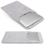 Promo Pu Leather Sleeve Laptop Case Computer Bag Cover For Macbook Air Retina 13 3 Laptop Grey Oem