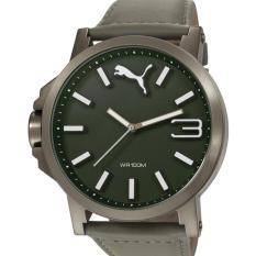 Puma Jam Tangan pria Puma PU103461004 Ultrasize Analog Display Left-Handed Leather Grey Sport Watch
