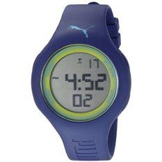 Puma Jam Tangan Unisex Puma PU910801039 Empower L Blue Green Rubber Strap Watch