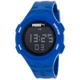 Jual Puma Jam Tangan Unisex Puma Pu911301005 Loop Blue Chronograph Digital Silicone Watch Satu Set