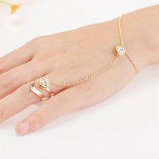 Punk Perhiasan Wanita Cincin Berlian Imitasi Gelang-Intl