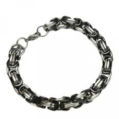 Harga Punk Stainless Steel Biker Bicycle Motorcycle Chain Bracelet For Men Silver Black Intl Yang Bagus