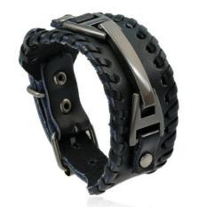 Harga Punk Unisex Wide Bracelet Mens Women Bangle Intl New