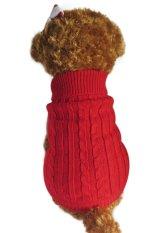 Review Toko Puppy Clothes Soft Cute Hewan Peliharaan Kucing Anjing Rajutan Jumper Anjing Anjing Sweater Pakaian Rajut Mantel Tudung Outwear Dog Pakaian Pakaian Musim Gugur Musim Dingin Baju Hangat Kostum Sweater Untuk Kecil Anjing Merah Xs Intl Online