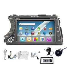 Pupug 7 Inch Mobil Pemutar DVD Android 4.2 OS Kendaraan Radio Video Stereo For Ssangyong Actyon Kyron Wifi Bt TV GPS -Internasional