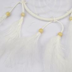 Harga Murni Handmade White Bulu Dream Catcher Lucky Charm Pendant Dengan Edaran Net Manik Manik Kayu Car Wall Hanging Wind Chimes Rumah Dekorasi Ornamen Gaya India Tiongkok