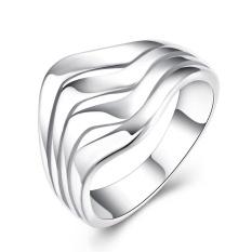 Murni Perak Perhiasan Riak Air Ring-Intl