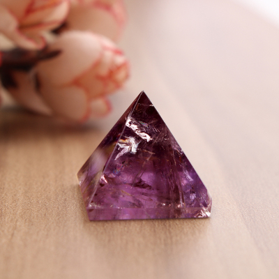 Toko Purple Amethyst Crystal Healing Orgone Pyramid Quartz Clear Crystal Pyramid Size Details Approx 25Mm 98 Intl Lengkap Indonesia