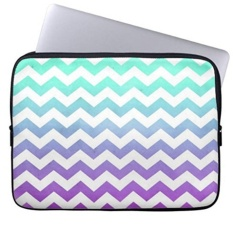 Jual Purple Turquoise Fade White Chevron Zigzag Pattern Laptop Sleeves Notebook Cover Or 13 Inch Intl Branded Original
