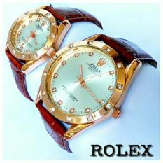 Pusat Jam Tangan Couple Rolex Pria Wanita Murah Berkualitas Coklat
