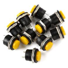 Tombol Tekan Saklar For Elektronik Otomotif Set 10 (kuning)-Intl