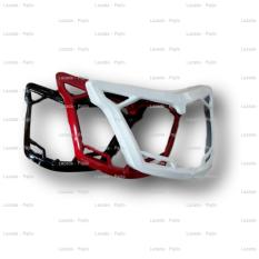 Putih - Aksesoris Motor  Yamaha New Jupiter MX King 150 List Lis Cover Headlamp Lampu Batok Head Lamp Depan Motor Asesoris Motor Acessoris Motor Jupiter MX King MXKing