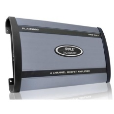 Pyle PLAM3000 3000 Watt 4 Channel Bridgeable Amplifier-Intl