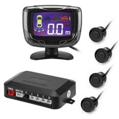 PZ500 Mobil LCD 4 Sensor Parkir Bekas RadarCarDetectorSystem Kit (Hitam)-Intl