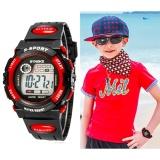 Beli Q Shop Multifungsi Tahan Air Anak Boy G*rl Olahraga Elektronik Jam Tangan Merah Internasional Yang Bagus