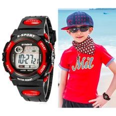 Harga Q Shop Multifungsi Tahan Air Anak Boy G*rl Olahraga Elektronik Jam Tangan Merah Internasional Oem Original