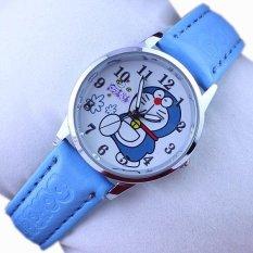 Q Versi Fashion Kartun Doraemon Biru Gigitan Cat Belt Siswa Children Watch