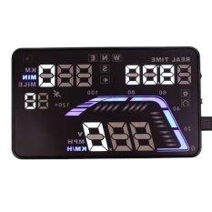 Q7 Mobil Auto GPS Head-Up Display HUD Kecepatan Peringatan Ketinggian DrivingDistance OBD-Intl