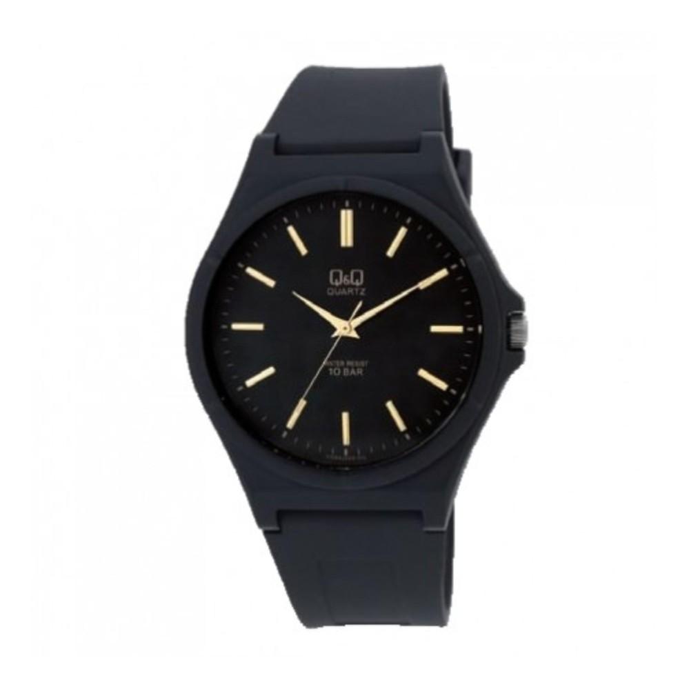 PRODUK VIRAL Q Q-Jam Tangan Fashion Sporty Black Rubber Strap ... a1d3944a33