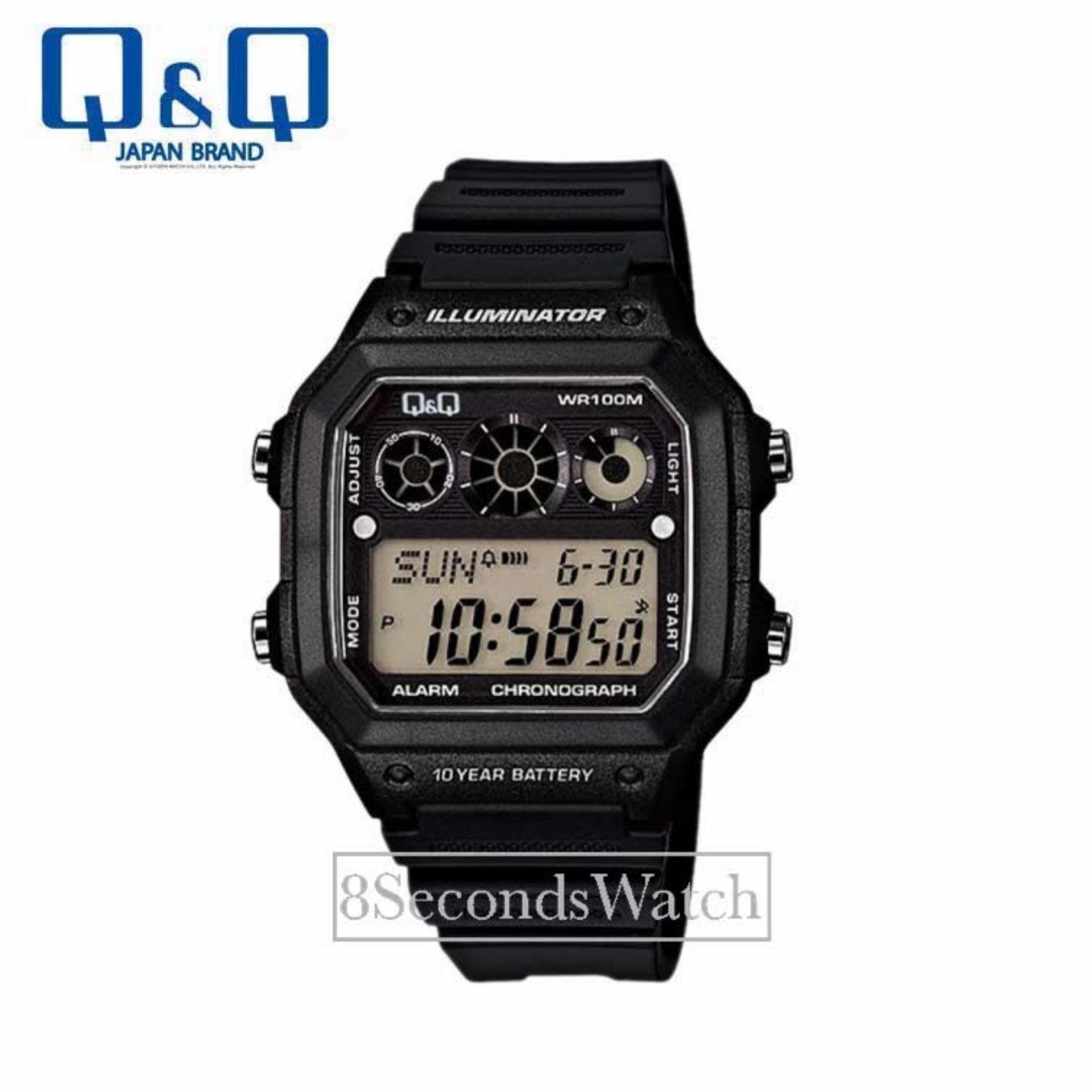 Q&Q - Jam Tangan Pria dan Wanita - Digital Watch - Strap Rubber - L116_Black