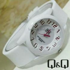 Toko Q Q Jam Tangan Wanita Rubber Strap Qq X43221 White Yang Bisa Kredit